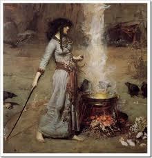 Diosa celta Cerigwen con su caldero mágico