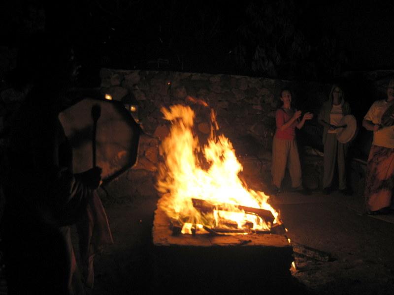 Animar al fuego en el Temascal