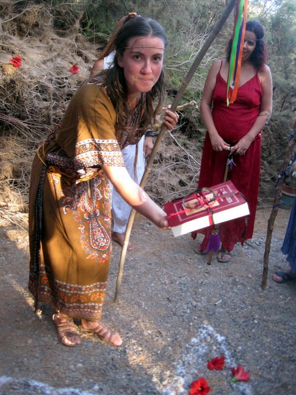 Ofrecimiento en la Ceremonia de iniciación