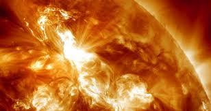 Imagen de una tormenta solar