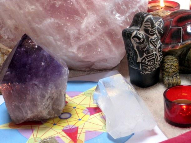 Mandala de Luz y cuarzos