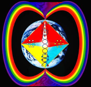 arco iris que rodea la tierra