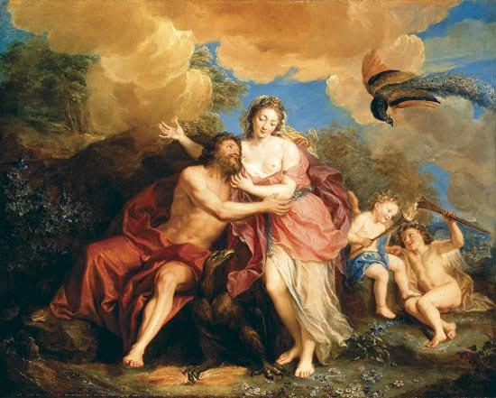 El cinturón de Venus o Júpiter y Juno en el Monte Ida, Antoine Coypel (1661-1722)
