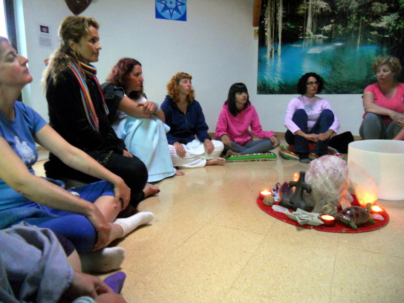 Preparación para la meditación Arco Iris