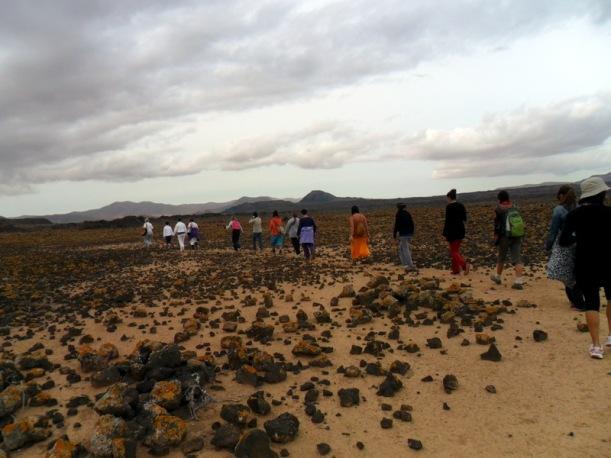 camino del volcán