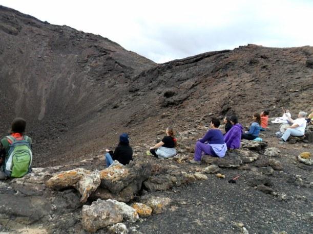 Meditación frente al volcán