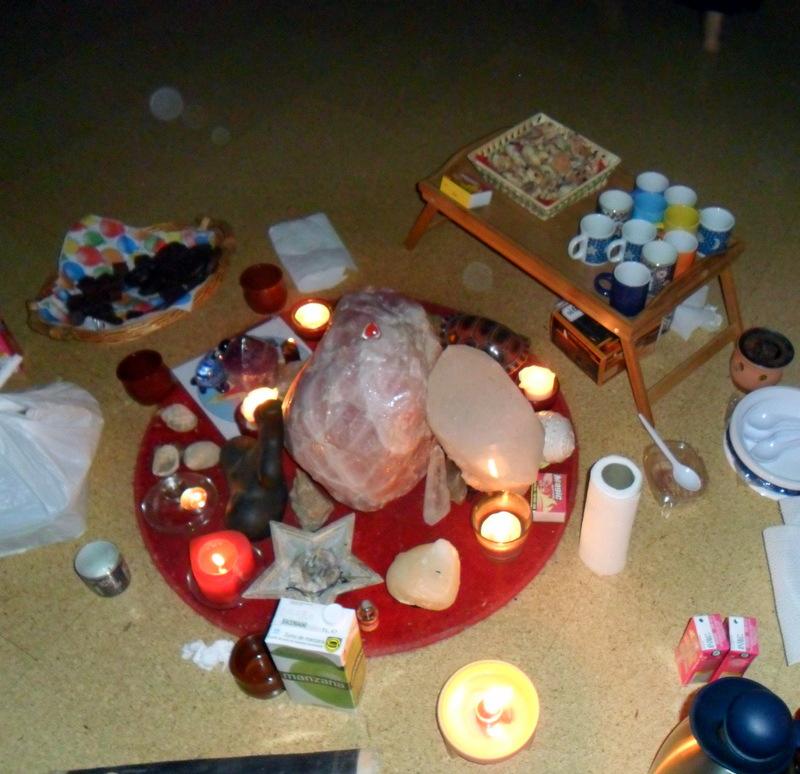 altar de cuarzo