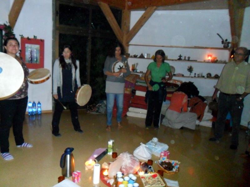 con los tambores