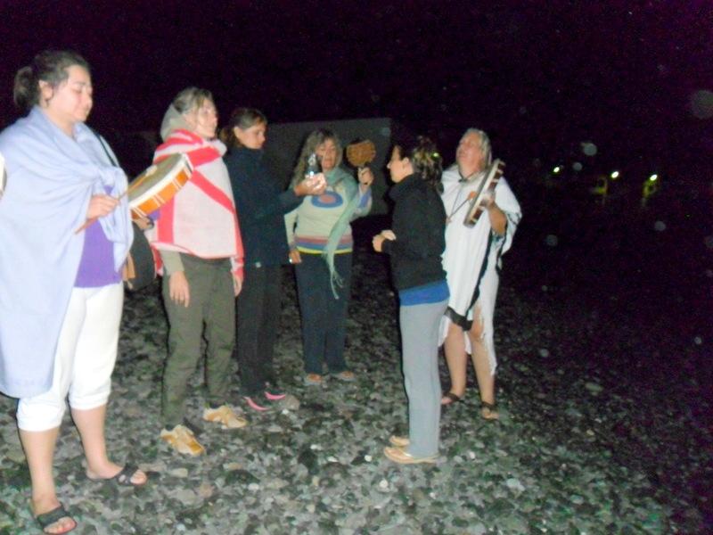 Ceremonia de agua en Pozo Negro