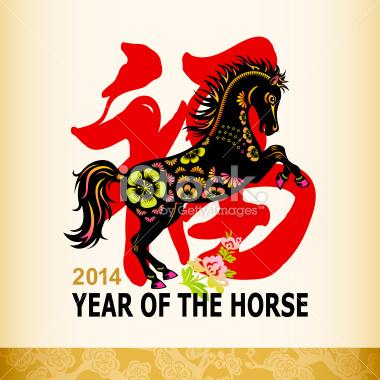 ilustración sobre el caballo de madera en el horóscopo chino