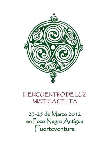 Flayer del III Encuentro de Luz. Mística Celta