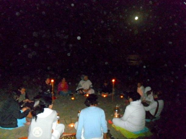 Meditación previa ceremonia de Agua