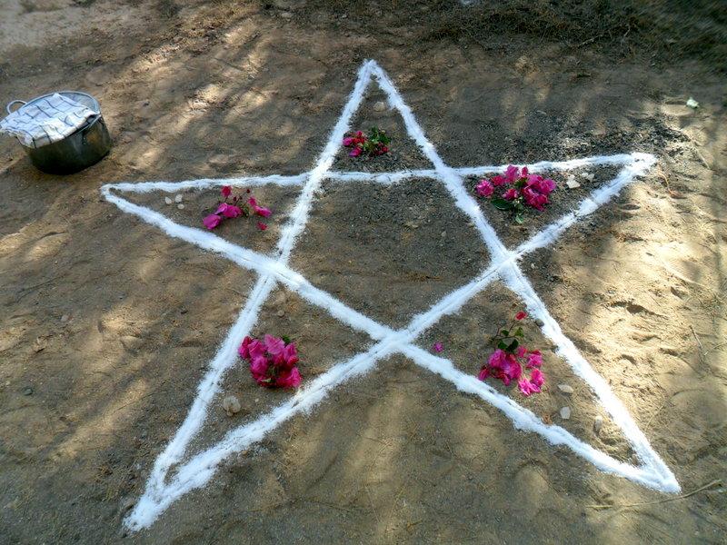 Pentagrama en Ostara