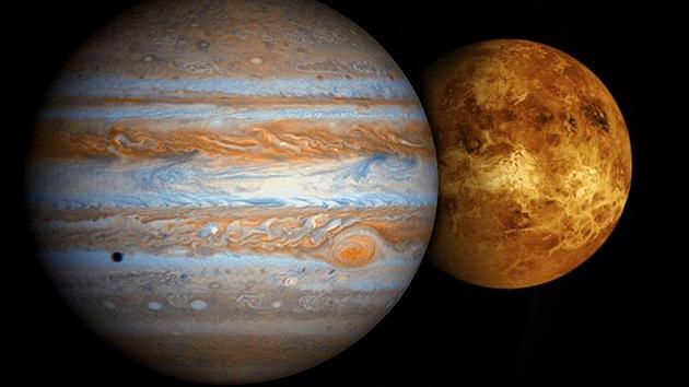 Acercamiento de Júpiter y Venus