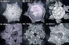 cuerpos geométricos formados en el agua. Masuro Emoto