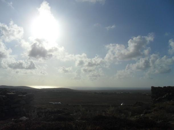 El horizonte desde Tindaya