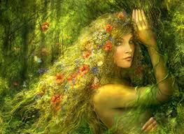 Imagen idílica de mujer celta
